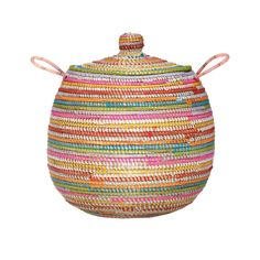 Ethically handwoven by Senegalese women, our Delbi Straw Laundry Basket is a natural storage beauty. Round and ample-sized, the basket is mainly made from straw, with small woollen loops wrapped around each of the woven sections adding a splash of vibrant colour. With sweet handles on either side of the basket and a sturdy lid for keeping your dirty laundry out of sight, the Delbi makes a practical and pretty piece of storage. Available in four colours.