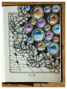 Old book with  # Florz * Flux and gems