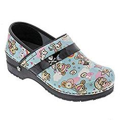 The Sanita PROFESSIONAL Dulce Tokidoki Patent Leather - Koi by Sanita clog is made in Europe and features a padded instep strap, orthopedic rocker bottom outsole, APMA approved leather sockliner. Clogs Outfit, Clogs Shoes, Scrub Shoes, Best Nursing Shoes, Best Golf Shoes, Kinds Of Shoes, Fall Shoes, Steve Madden Shoes, Your Shoes