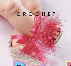 baby crochet flip flop patterns free | Crochet Patterns BABY BOOTIES MARY JANES SLIPPERS SHOES Ballet Slipper ...