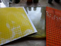 Gelli plate prints and making your own stencils