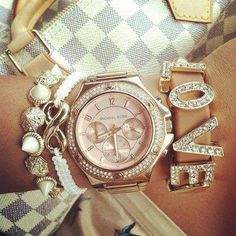 Michael Kors watch Infinity bracelet