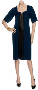 черное платье сочетается с синим