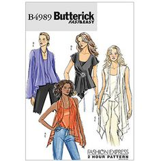 Butterick Pattern Misses' Top and Camisole, Y (XS, S, M)