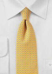 Krawatte Gitter-Struktur gelb königsblau günstig kaufen