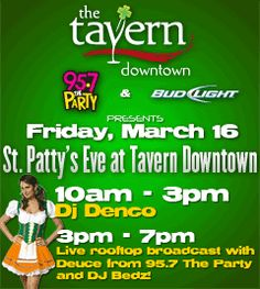 The Tavern Downtown is one of the best places to watch the St. Patrick's Day Parade.  #Centennial #Denver #St. Patrick's Day