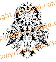 A Polynesian halfsleeve tattoo design with a tiki mask and a lizard symbol at the bottom. It's really detailed with some spearheads and turtle patterns. Polynesian Tattoo Designs, Tribal Tattoo Designs, Tribal Tattoos, Filipino Tattoos, Tiki Mask, Mask Tattoo, Turtle Pattern, Shoulder Tattoos, Tattoos Gallery