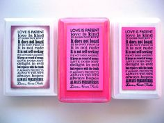 Love Plaque & Fabric Bag. Love is Patient Love is by WordofGod, $16.75  My Fave of All~so True~