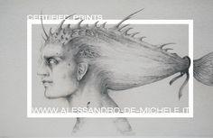 Plancton, 2004 Pencil drawing on paper, 50 x 30 cm