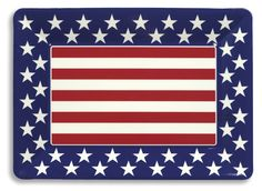 Patriotic Plastic Tray - Includes one patriotic plastic tray. Measures approximately 10 wide x 14 long.