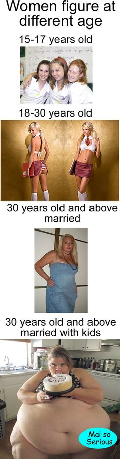Follow: http://maisoserious.com  #women #womenfigure #funny #jokes  Woman figure at different age