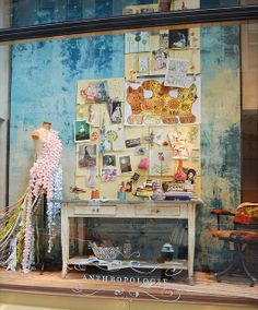 I think I could live in some of Anthropologie's window displays... Anthropologie Display, Store Window Displays, Display Windows, Display Design, Display Ideas, Visual Display, Store Design, Booth Design, Window Art