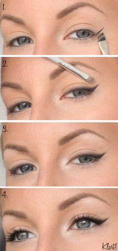 everyday make-up step by step - # everyday # for . - Haar Make-Up - Eye-Makeup Step By Step Eyeliner, Makeup Tutorial Step By Step, Make Up Ideas Step By Step, Beauty Make-up, Beauty Hacks, Beauty Tips, Everyday Make Up, Eyeliner Styles, Daily Makeup
