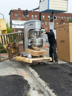 Now that's a MIXER! Getting ready to bake up a storm in our new bakery kitchen! #gocoop