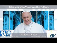 """EN DIRECTO: El Papa reza el """"Te Deum"""" de fin de año y visita el Nacimiento del Vaticano - ROME REPORTS"""