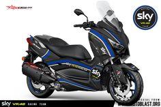 Motoblast.org – Halo mas dab… kali ini motoblast akan membuatkan modifikasi striping untuk Yamaha Xmax 250 warna hitam dengan livery SKY VR46 Racing team. monggo [...] Yamaha Scooter, Xmax, Motorcycle Types, Vr46, Racing Team, Motogp, Honda, Motorcycles, Scooters