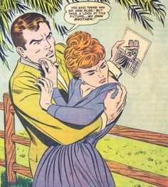 """Comic Boys Say.."""" You Said there was No one else ! But Take a look at this picture ! My own Brother !""""  #comic #vintage"""