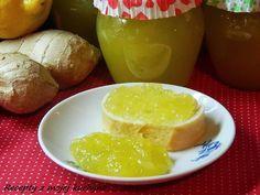 RECEPTY Z MÉ KUCHYNĚ A ZAHRADY: Cuketový džem s citronem a zázvorem Marmelade Recipe, Home Canning, Preserves, Pickles, Jelly, Zucchini, Mango, Food And Drink, Health Fitness