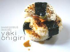 Jenessa's Dinners: Sweet Potato and Avocado Yaki Onigiri