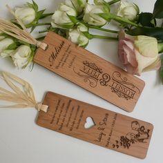 Wooden Engraved Laser-Cut Bookmark