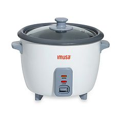 This 5-cup rice cooker features a nonstick cooking bowl for easy removal of rice every time. The glass lid allows you to monitor your rice while cooking.
