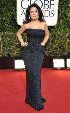 Salma Hayek in Gucci. Golden Globes 2013.