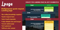 awesome Lpage - Multipurpose quote request Landing web page (Miscellaneous)