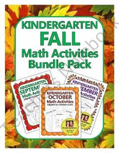Kindergarten Common Core Math Pack for Fall - September, October & November  from NicoleAndEliceo on TeachersNotebook.com (162 pages)  - 3-in-1 pack of engaging activities aligned to the common core standards for kindergarten math in September, October & November!
