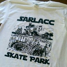 #Repost @thetwistedfreak  Sarlacc Skate Park tee. Based off the Del Mar skate park in the 80s. Shred the gnar wars. Link in profile.  #starwars #tuskenraider #stormtrooper #jawa #bobafett #skatesinglefile #skateboarding #skate #skateordie #rad #ollie #delmarskateranch #sarlaccpit #sarlacc #tonyhawk #tatooine #sandpeople #shredthegnar #gnarwars    (Posted by https://bbllowwnn.com/) Tap the photo for purchase info. Follow @bbllowwnn on Instagram for great pins patches and more!