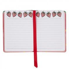 Nice Slice A6 strawberry casebound notebook - Notebooks - Stationery
