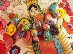 Virgencita Catholic Virgin Mary OL Gudalupe Icons on Brazilian Wood (Saints) Bracelet