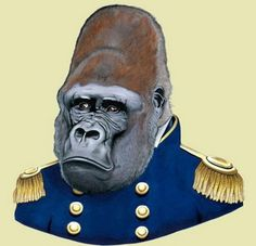 Gorilla Print by Ryan Berkley
