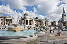 Trafalgar Square is a public space and tourist attraction in central London, England, United Kingdom built around the area formerly known as Charing Cross.