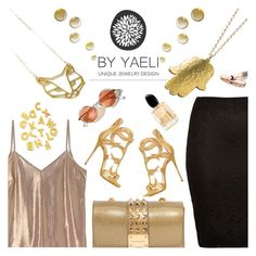 """Yaely Jewelry (10)"" by albinnaflower ❤ liked on Polyvore featuring River Island, Giuseppe Zanotti, Design Inverso, Giorgio Armani and Fountain"