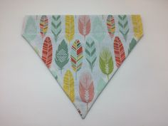 Pet Bandana - Colorful Bohemian Feathers - Over the Collar - Custom by HemptressDesigns on Etsy