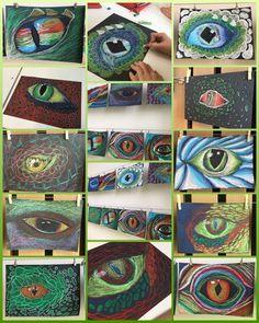 Create dragon eyes with group # dragon eye - Art Education ideas Art Education Projects, Classroom Art Projects, Art Classroom, Dragon Eyes, Regard Animal, 7th Grade Art, Middle School Art Projects, Ecole Art, Art Curriculum