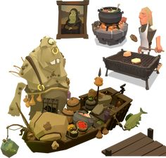 Various Characters of Tavern Keeper