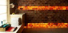 Hot Himalayan salt bricks at Fletcher's Cottage spa at Archerfield House