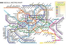 Confusing but I can travel by this map with no problems now! - Seoul train map