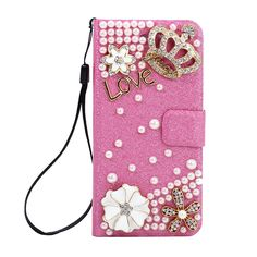 One of our faves <3 Crystal Wallet Case for iPhone 6/6s | In Crown Hot Pink | Shine bright, like diamonds in the sky <3