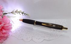 2 in 1 Bel Arte Black Gold Lighted Tip  Metal Ballpoint Pen  - HIGH QUALITY #AdlerLightedTipPen