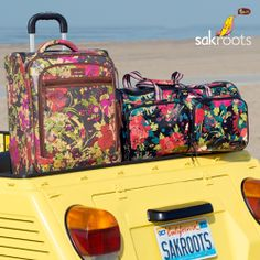 Road Trippin'. Sakroots NEW Luggage collection will have you packed and ready to hit the road in colorful style! Features durable coated canvas and tons of function. Shop Luggage.