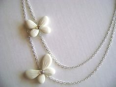 Bridesmaid Gift   Butterfly Necklace by parsi on Etsy, $60.00