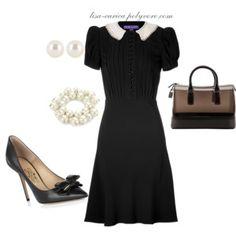 Black Contrast Collar Work