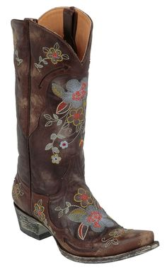 Old Gringo® Ladies Chocolate Bonnie Volcano Goat w/Embroidered Flowers Western Boot   Cavender's Boot City