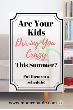 Are your kids driving you crazy? Try putting them on a family schedule. It will keep them busy doing fun things like reading, sports, and crafts. Kids Summer Schedule, Summer Kids, Good Parenting, Parenting Hacks, Practical Parenting, Tired Mom, Thing 1, Spiritual Encouragement, Health