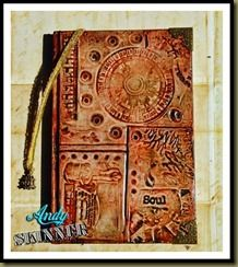 Texture stamping technique part 2 (altered book)