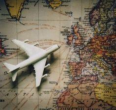 airplane, away, fly, map, travel - image #212184 on Favim.com