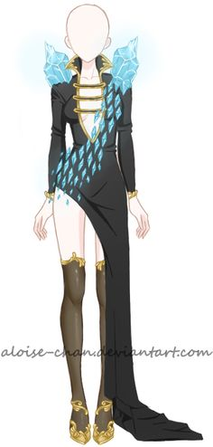 [OPEN] Ice Queen Outfit Adoptable by Aloise-chan.deviantart.com on @DeviantArt