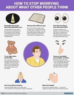7 Mental Tricks To Stop Worrying What Other People Think of You (Infographic) - The Power of Ideas Signs Of Anxiety, Social Anxiety, Understanding Anxiety, Get A Life, Psychology Facts, Positive Psychology, School Psychology, Life Hacks, Digital Marketing Strategy